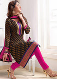 NS11560 Brown and Pink Designer Brasso Straight Suit