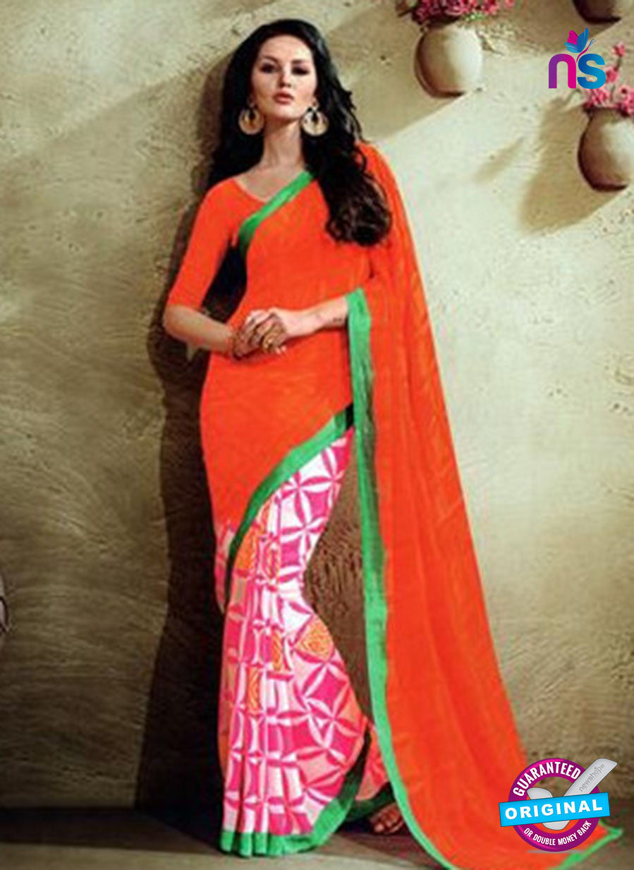 NS11938  Red and Magenta Daily Wear Designer Chiffon Saree