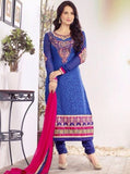 NS11954  Blue Color Georgette Long Designer Suit