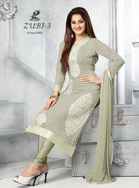 NS11958  Grey Color Georgette Long Designer Suit