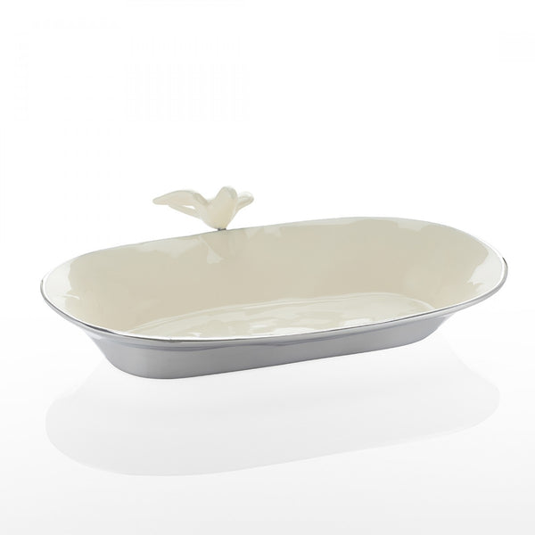 Dove Oval Bowl Sm Oyster