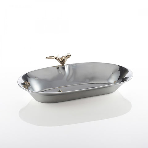 Dove Oval Bowl Sm Silver/Gold