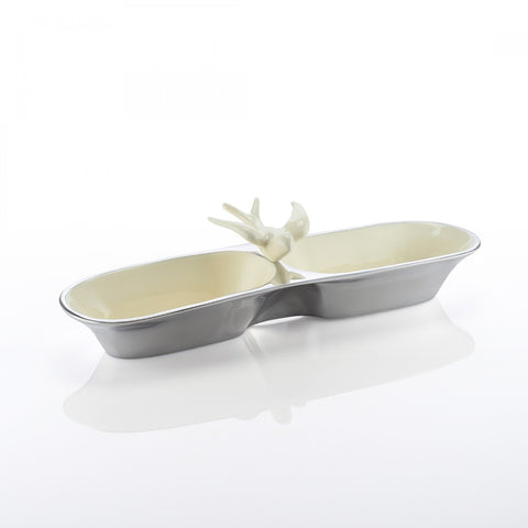 Dove Double Snack Dish Oyster