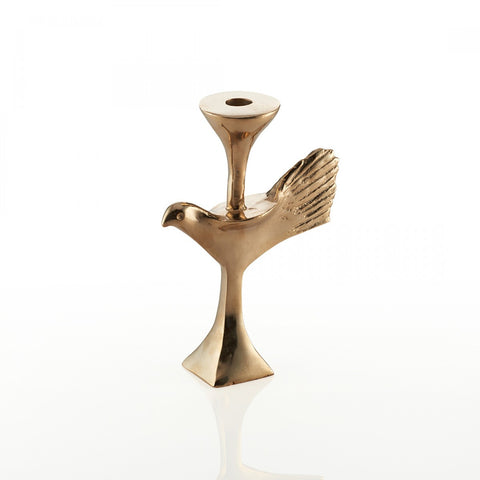 Bird Candleholder Gold