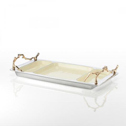 Lodge 3 Part Tray Oyster