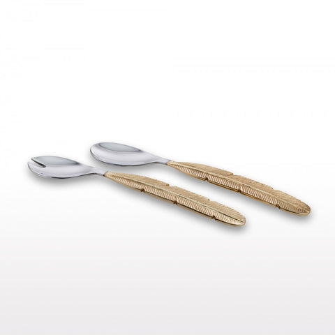 Feather Handle Serving Set