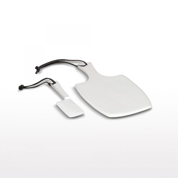 Cheese Paddle Set Sm Silver