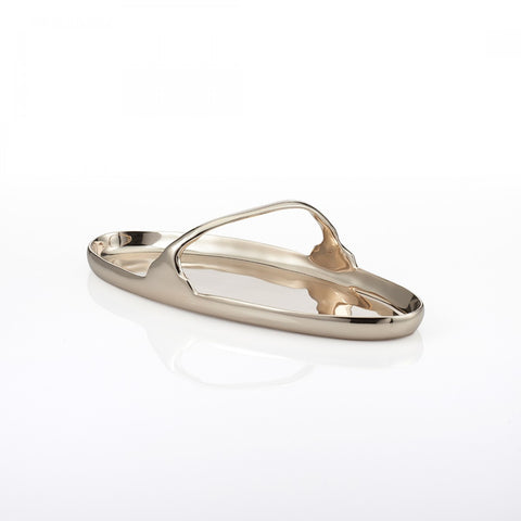 Greco Oval Handle Tray Gold