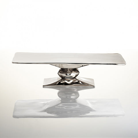 Rock Rectangle Cakestand Silver