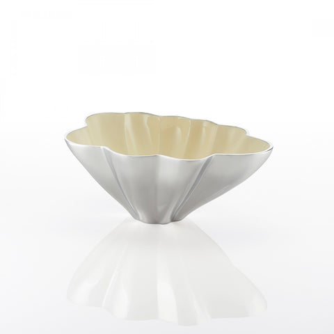 Origami Oval Bowl Lg Oyster
