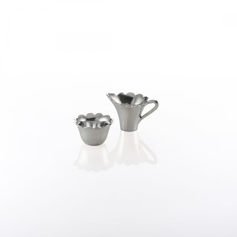 Scallop Sugar Creamer Set