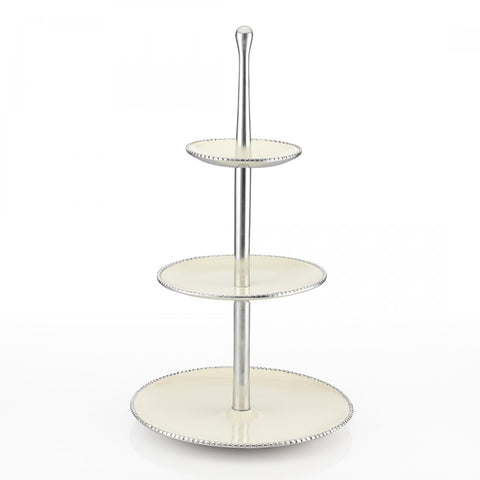 Beaded Dessert Stand Oyster