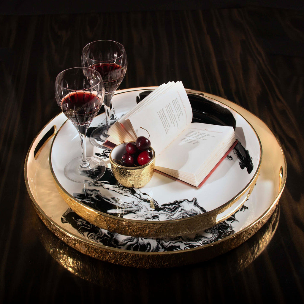 Bianco Nero Serving Trays