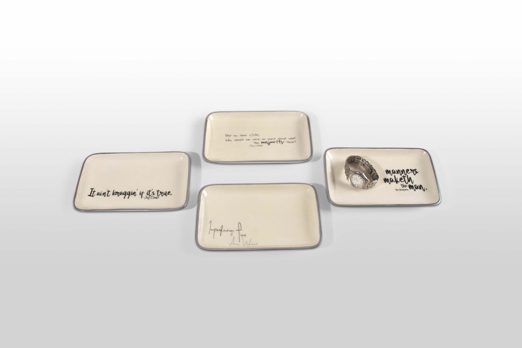 """Imperfection Is Fine"" Anna Wintour - Valet Tray with Quote"