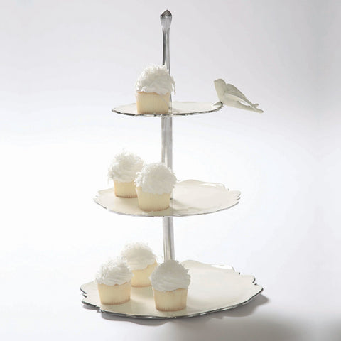 Dove Dessert Stand Oyster