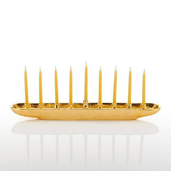 Nest Menorah Gold