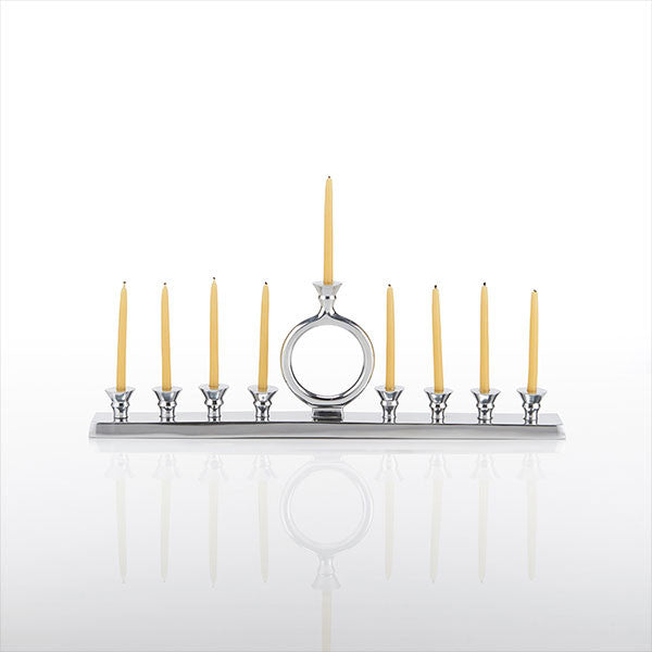 o candle menorah polished