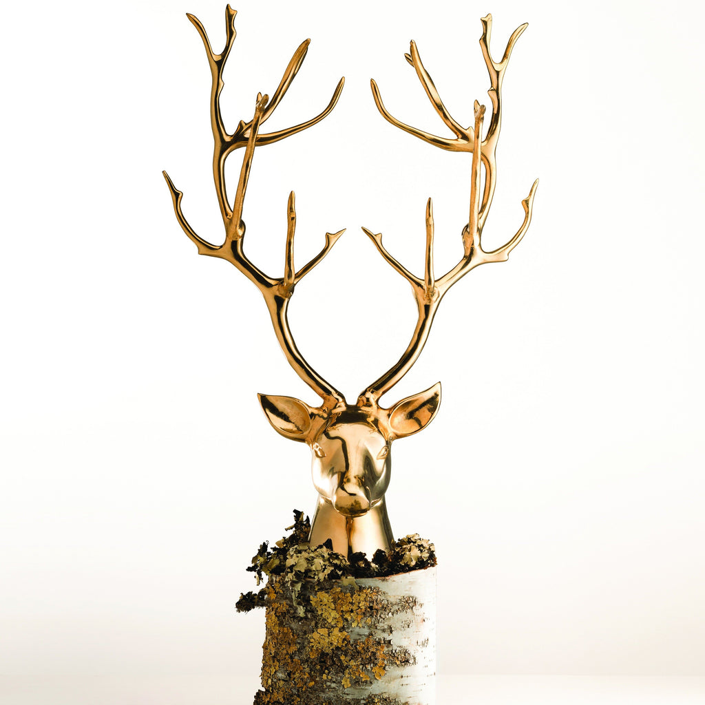 Stag Bust Gold - Nima Oberoi Lunares