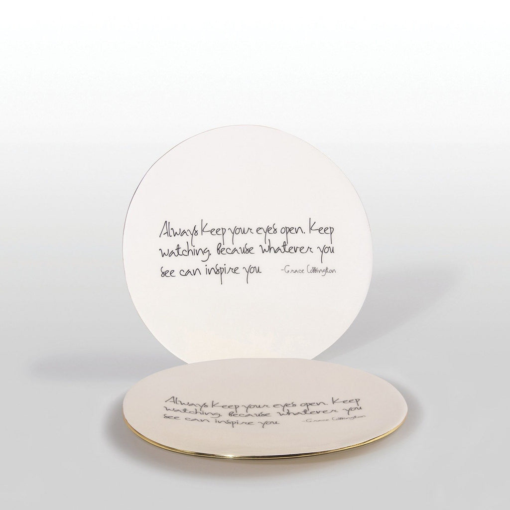 """Whatever You See Can Inspire You"" Grace Coddington - Platter with Quote"