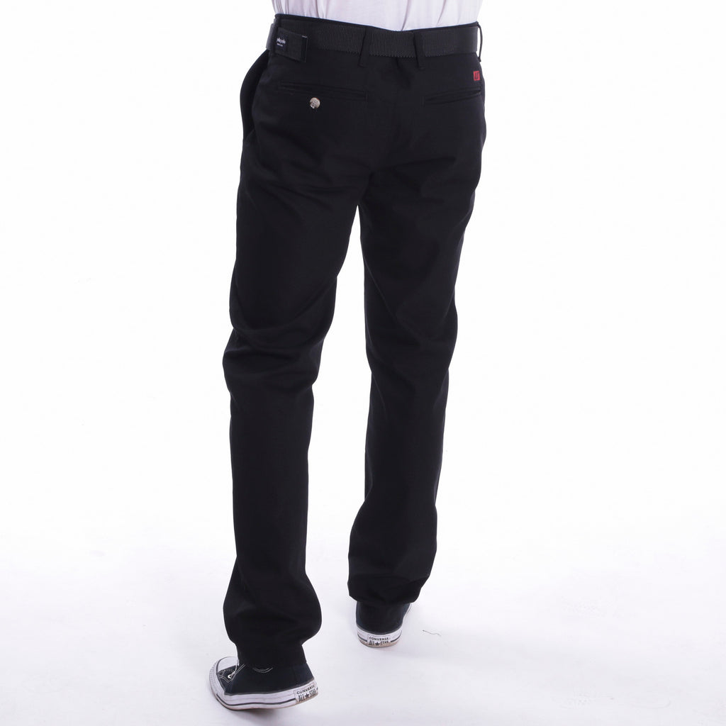 BACK - ALIS CLASSIC BOX LOGO CHINO BLACK