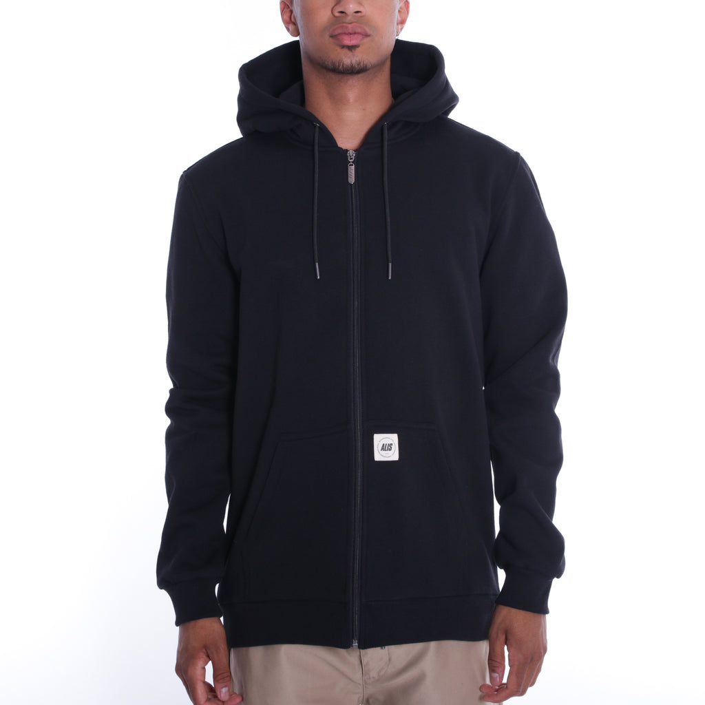 ALIS FREETOWN ZIP HOODIE BLACK, frontside