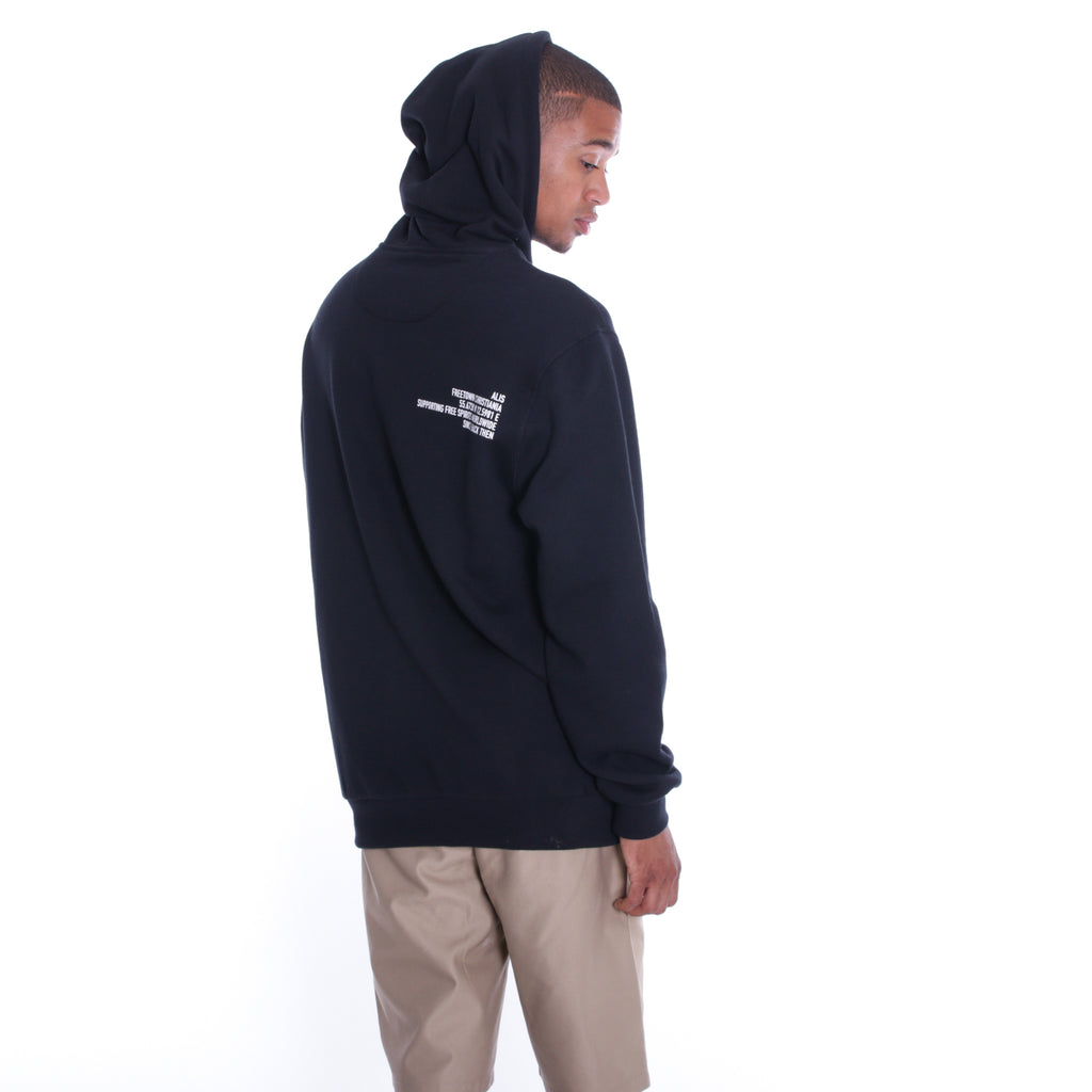 ALIS MINIATURE LOGO HOODIE BLACK, backside