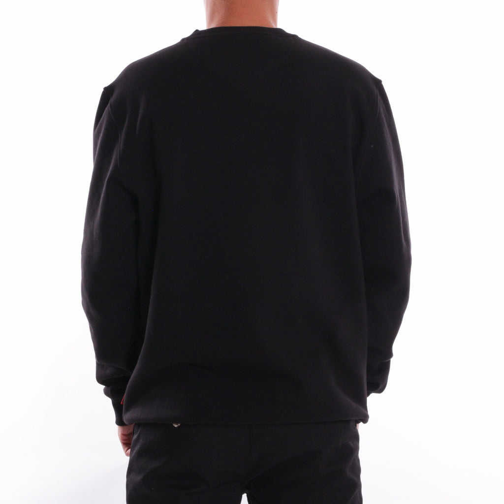 Black back - worldwide box logo crewneck
