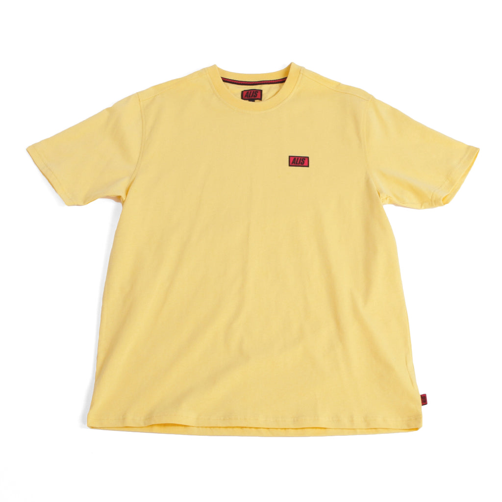 ALIS CLASSIC MINI BOX LOGO TEE LIGHT YELLOW, front