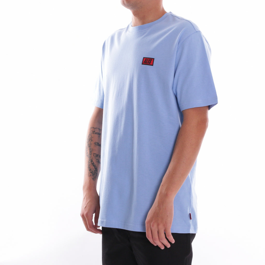 ALIS CLASSIC MINI LOGO TEE POWDER BLUE, side