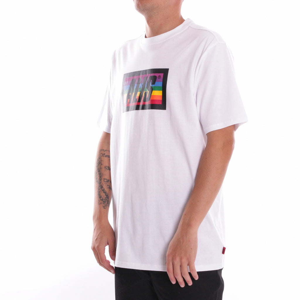 Multicolour t-shirt, white from side