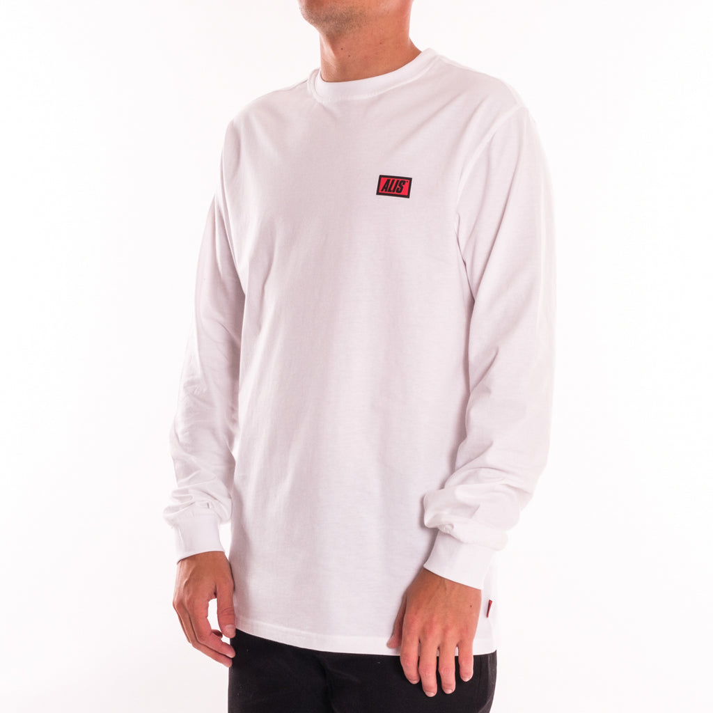 ALIS CLASSIC MINI LOGO LONG SLEEVES TEE WHITE, side