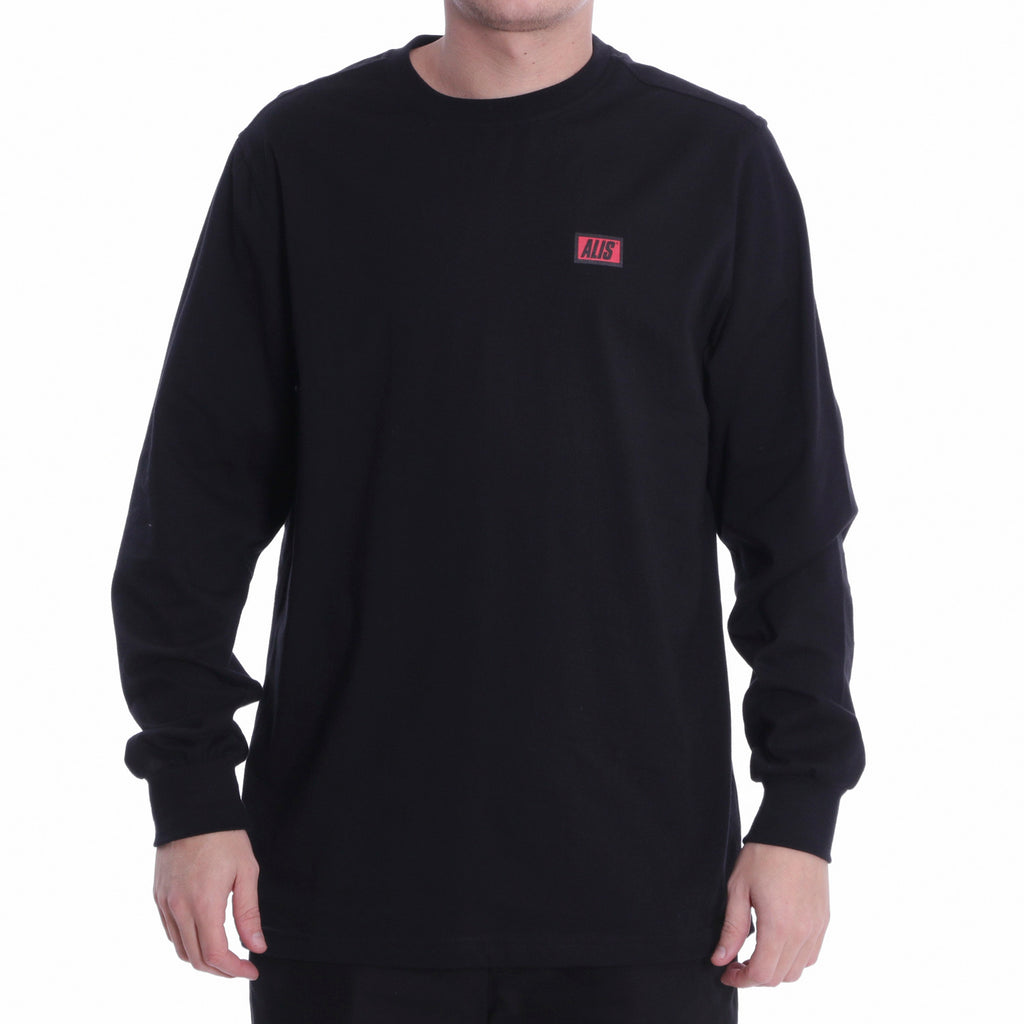 ALIS CLASSIC BOX LOGO LONG SLEEVE TEE BLACK, Front