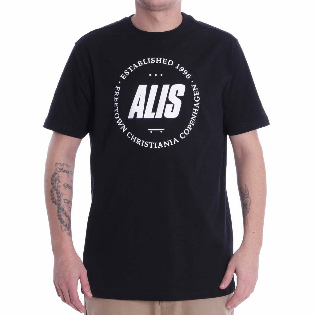 ALIS FREETOWN TEE BLACK, frontside