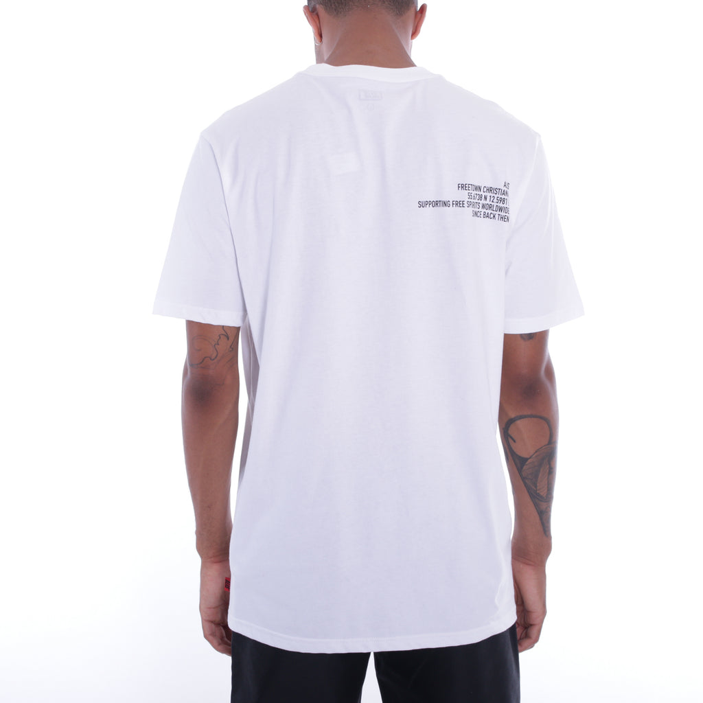 ALIS MINIATURE TEE WHITE, backside print detail