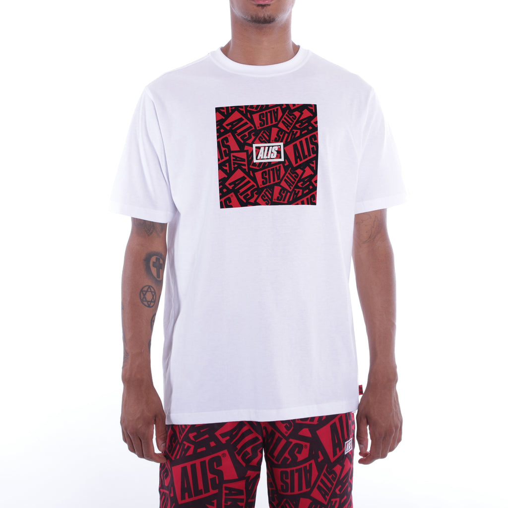 ALIS STICKER GAME SQUARE WHITE TEE front side