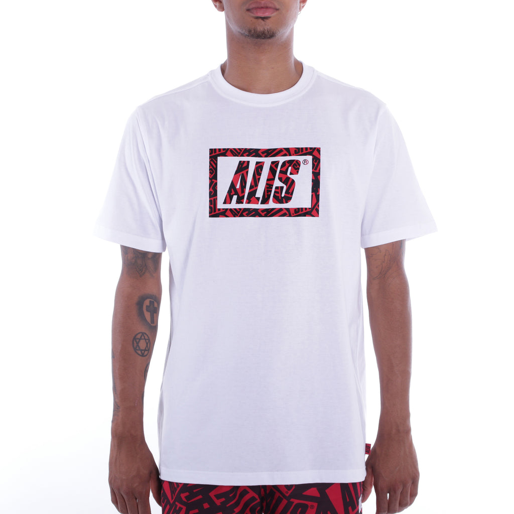 ALIS STICKER GAME STENCIL TEE WHITE front side