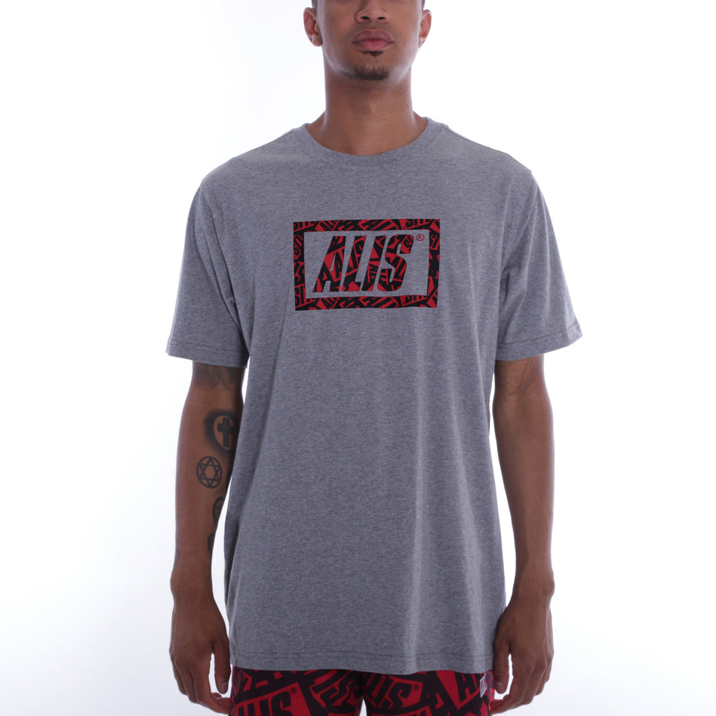 ALIS STICKER GAME STENCIL TEE GREY, front side