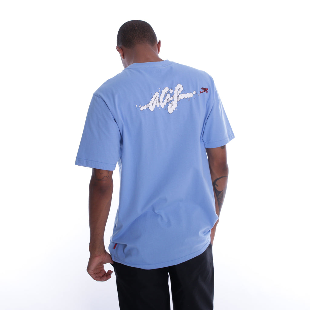 ALIS SKY'S THE LIMIT BLUE TEE, back side print