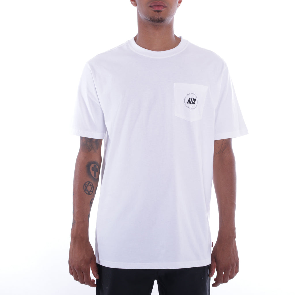 ALIS FREETOWN POCKET TEE WHITE, frontside