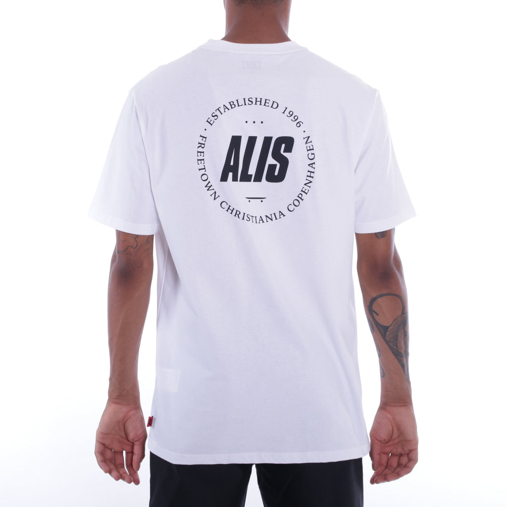 ALIS FREETOWN POCKET TEE WHITE, backside