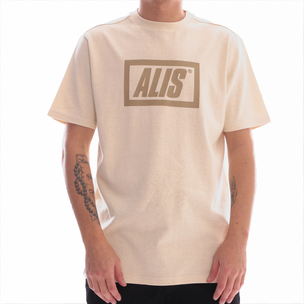 ALIS LEGALISE STENCIL BOX LOGO TEE OFF WHITE, frontside