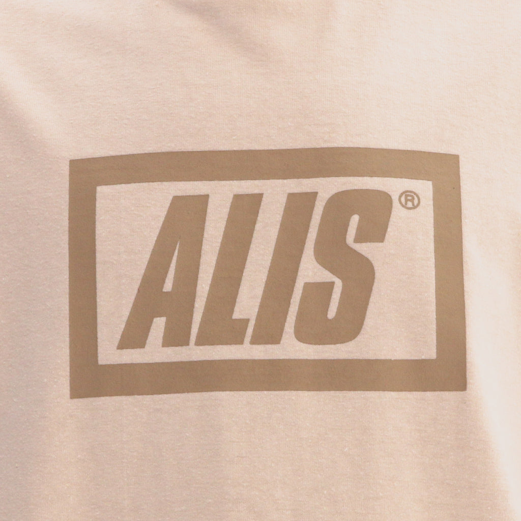 ALIS LEGALISE STENCIL BOX LOGO TEE OFF WHITE, logo detail