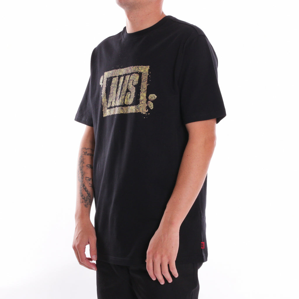 ALIS CRUMBLE STENCIL LOGO TEE BLACK, side