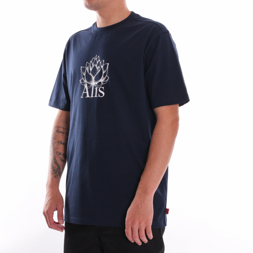 ALIS LOTUS TEE NAVY, side