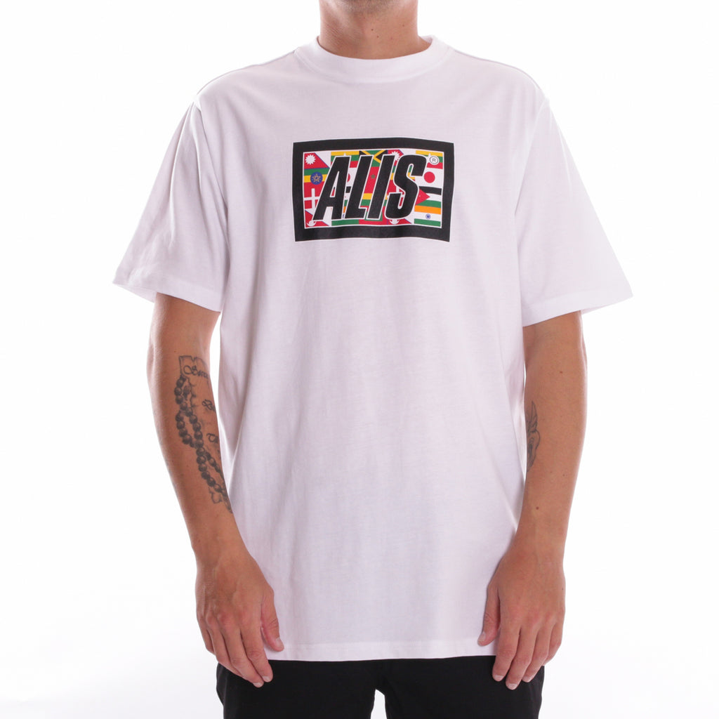 WHITE WORLD WIDE BOX LOGO T-SHIRT - Front