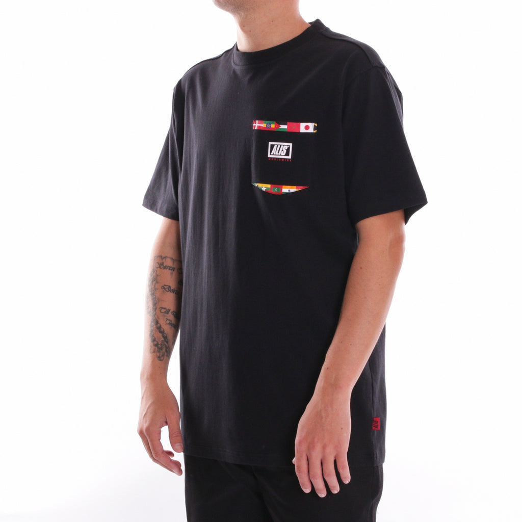 ALIS GOING GLOBAL POCKET TEE BLACK - Side