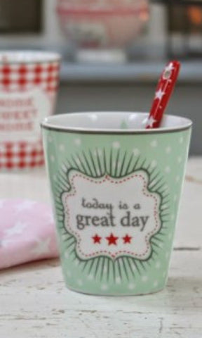 Happy mug - Today is a great day - Krasilnikoff