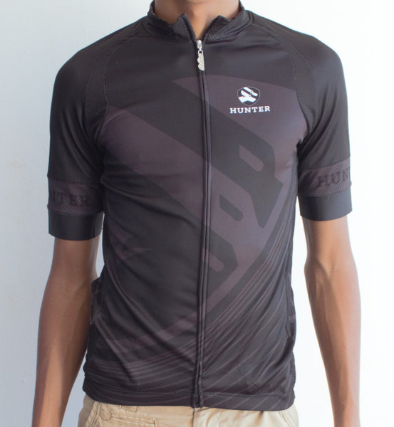 Hunter Stealth Jersey - Black and Grey - Hunter Cycling  - 1