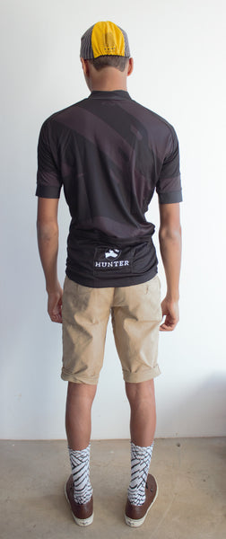 Hunter Stealth Jersey - Black and Grey - Hunter Cycling  - 3