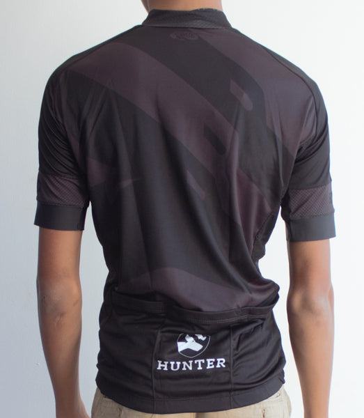 Hunter Stealth Jersey - Black and Grey - Hunter Cycling  - 2